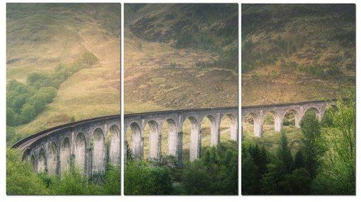 Erik Brede Photography - Glenfinnan Viaduct Part 2 - Triptych