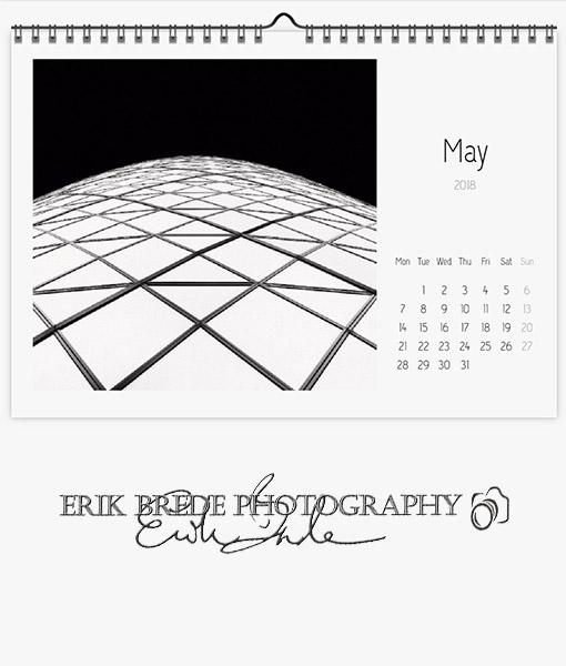 Calendar 2018 Black & White