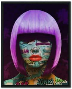 pop art face part 1 frame 1of1 - Erik Brede